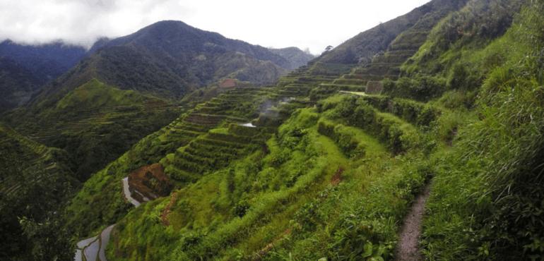 Trekking nos terraços de arroz de Banaue-Batad, Filipinas
